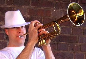Carey Doolan,Trumpet,trumpeter,captain trumpet,book a musician - book musician - book dj accompaniment, book a trumpet player, book trumpeter, funky trumpet